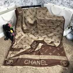 Шарф женский scarves chanel double c brown